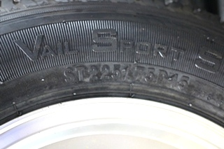 NEW/OLD STOCK RV/MOTORHOME  VAIL SPORT RIMS & TIRE PACKAGE ST225/75D15