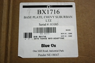 BLUE OX BX1716 TOW BASE PLATE CHEVY SUBURBAN MOTORHOME PARTS FOR SALE