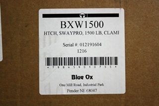 BLUE OX BXW1500 HITCH SWAYPO 1500LB WEIGHT DISTRIBUTION HITCH MOTORHOME PARTS FOR SALE